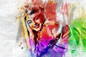 Go for Abstract Art Paintings of Celebrities