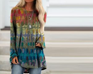 Long sleeve blouses and casual t-shirts for women's